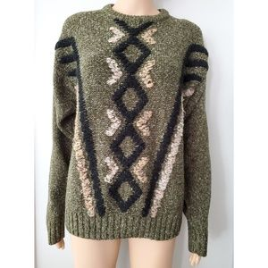 COS Olive Green knit Sweater Size Small